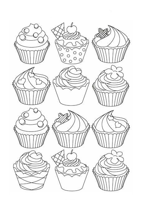 Omeletozeu Cupcake Coloring Pages Coloring Pages Flower Coloring Pages
