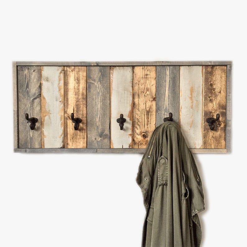 Entryway organizer coat rack modern coat hook rustic
