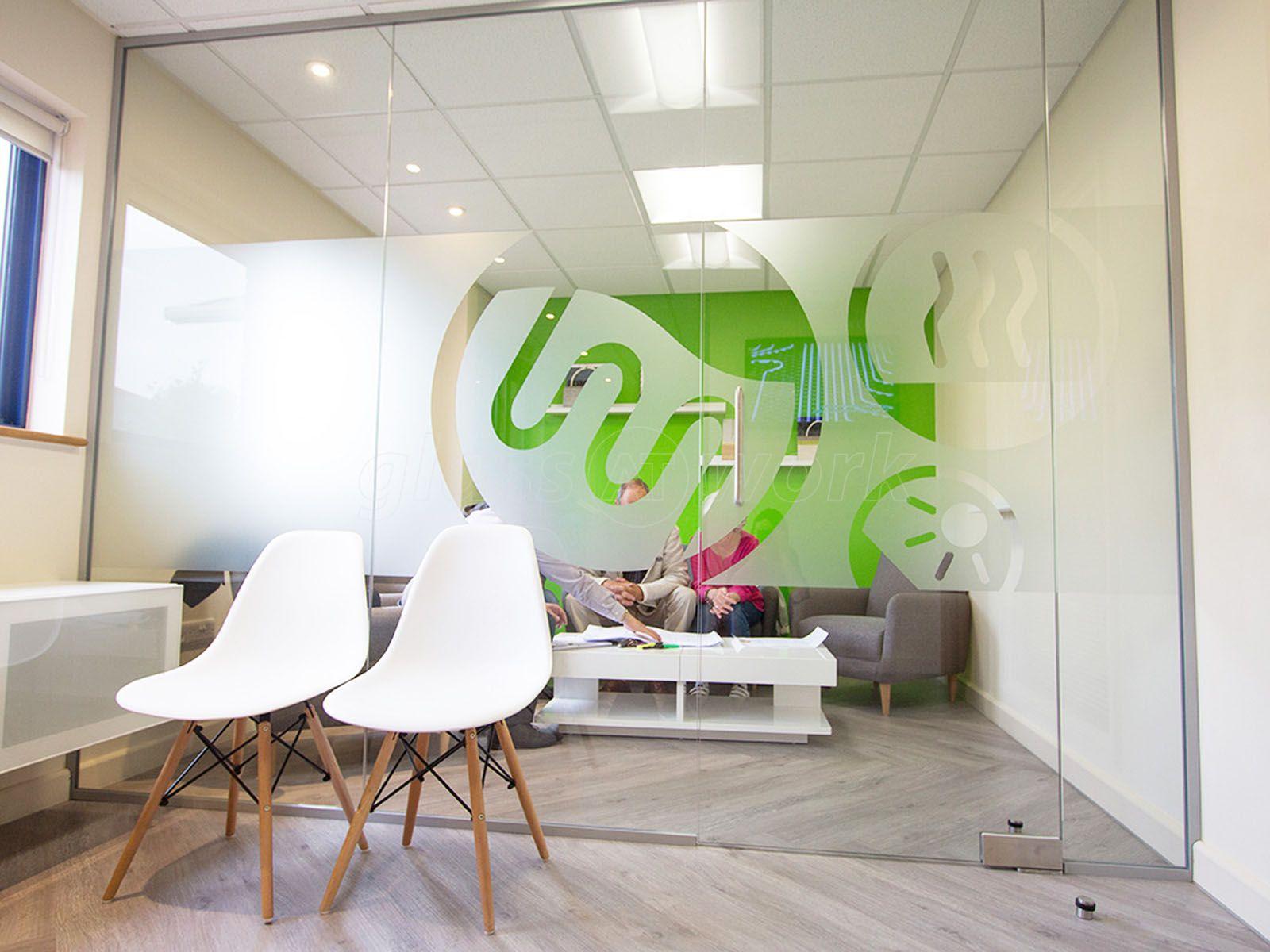 Single Glazed Frameless Glass Office Partitioning in 2019