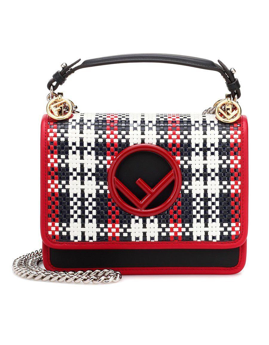 c19cd671fb73 FENDI Kan I Small leather shoulder bag · VERGLE