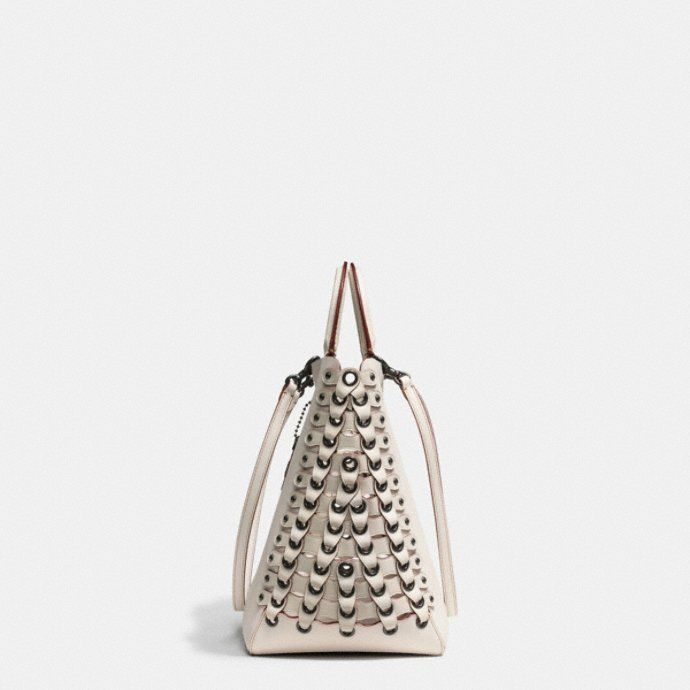 ROGUE TOTE WITH COACH LINK LEATHER DETAIL IN GLOVE CALF - Alternate View 1
