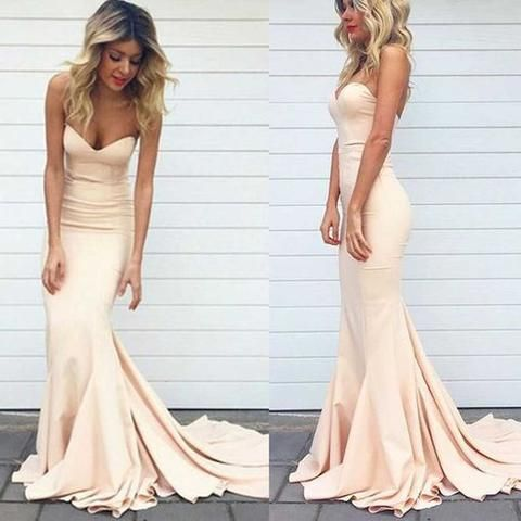 Charming Prom Dress,Mermaid Prom Dress,Long Prom Dresses,Light Blush ...