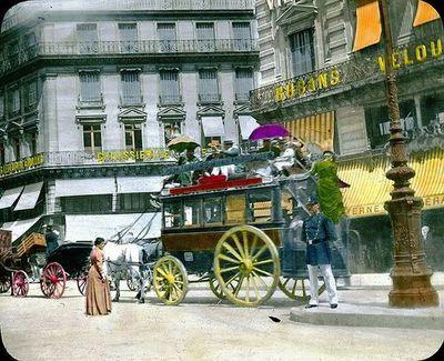 Omnibus à Paris en 1900 (ligne de Montmartre à Saint-Germain-des-Prés
