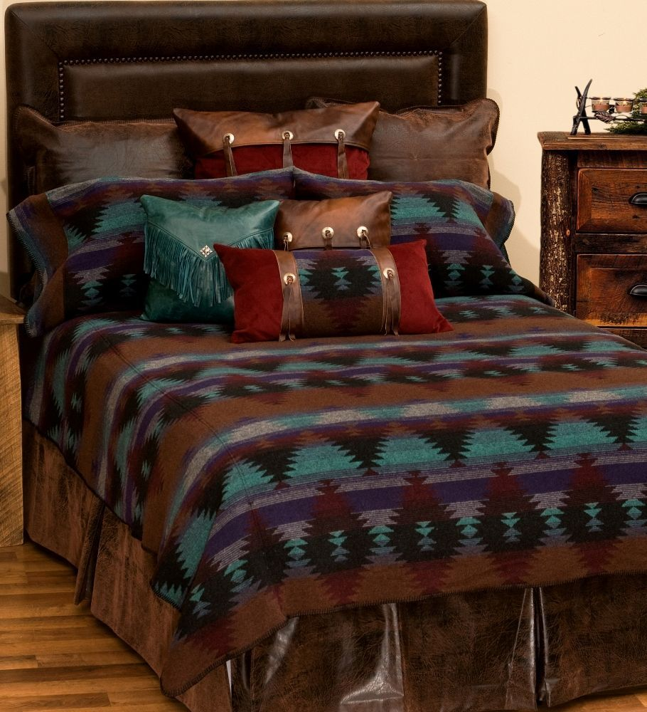 Painted Desert Iii Deluxe Southwest Bed Ensemble Set In