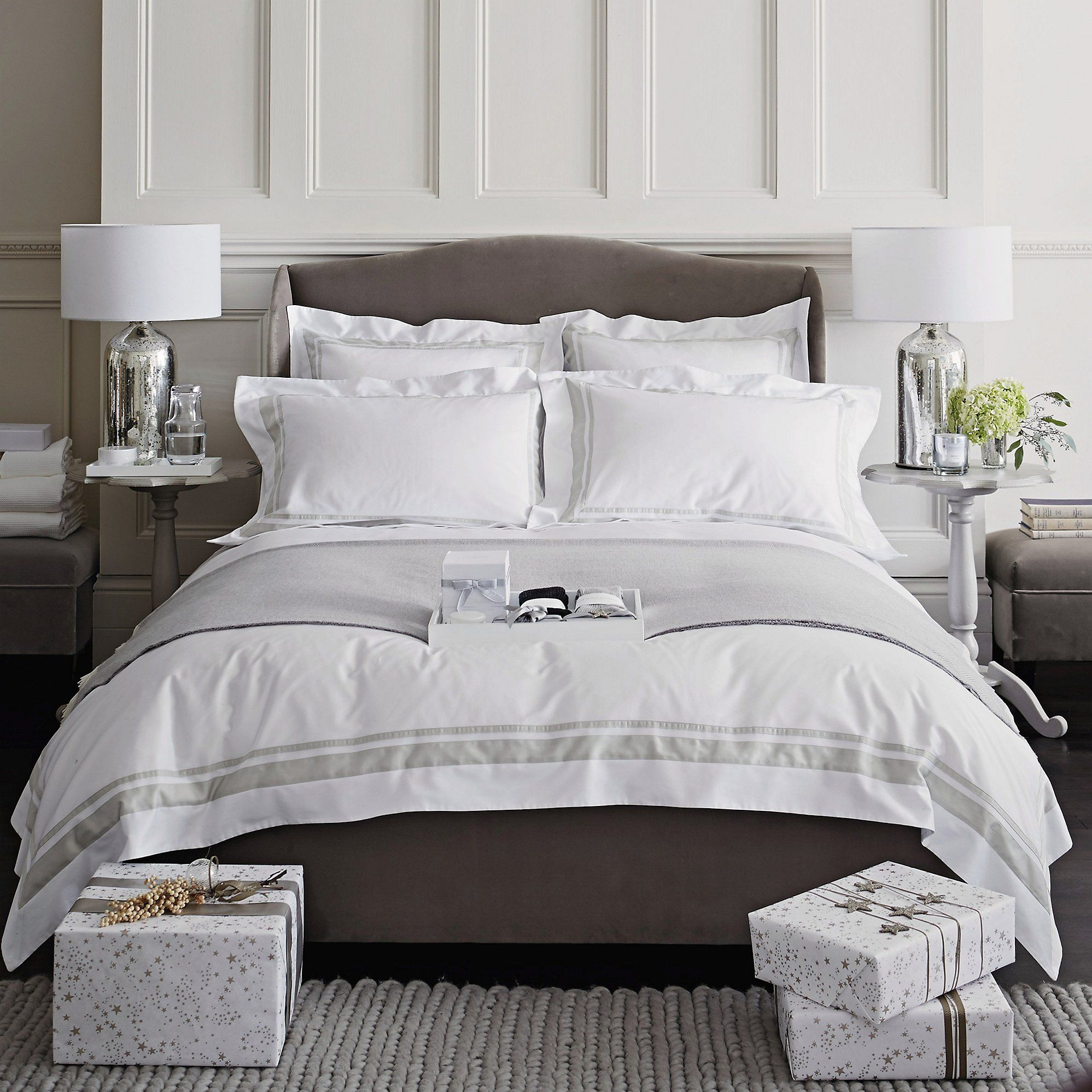 Brompton Bed Linen Collection Bedroom The White