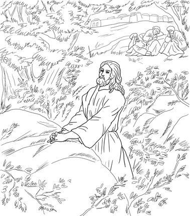 Coloring Picture Of Jesus Praying