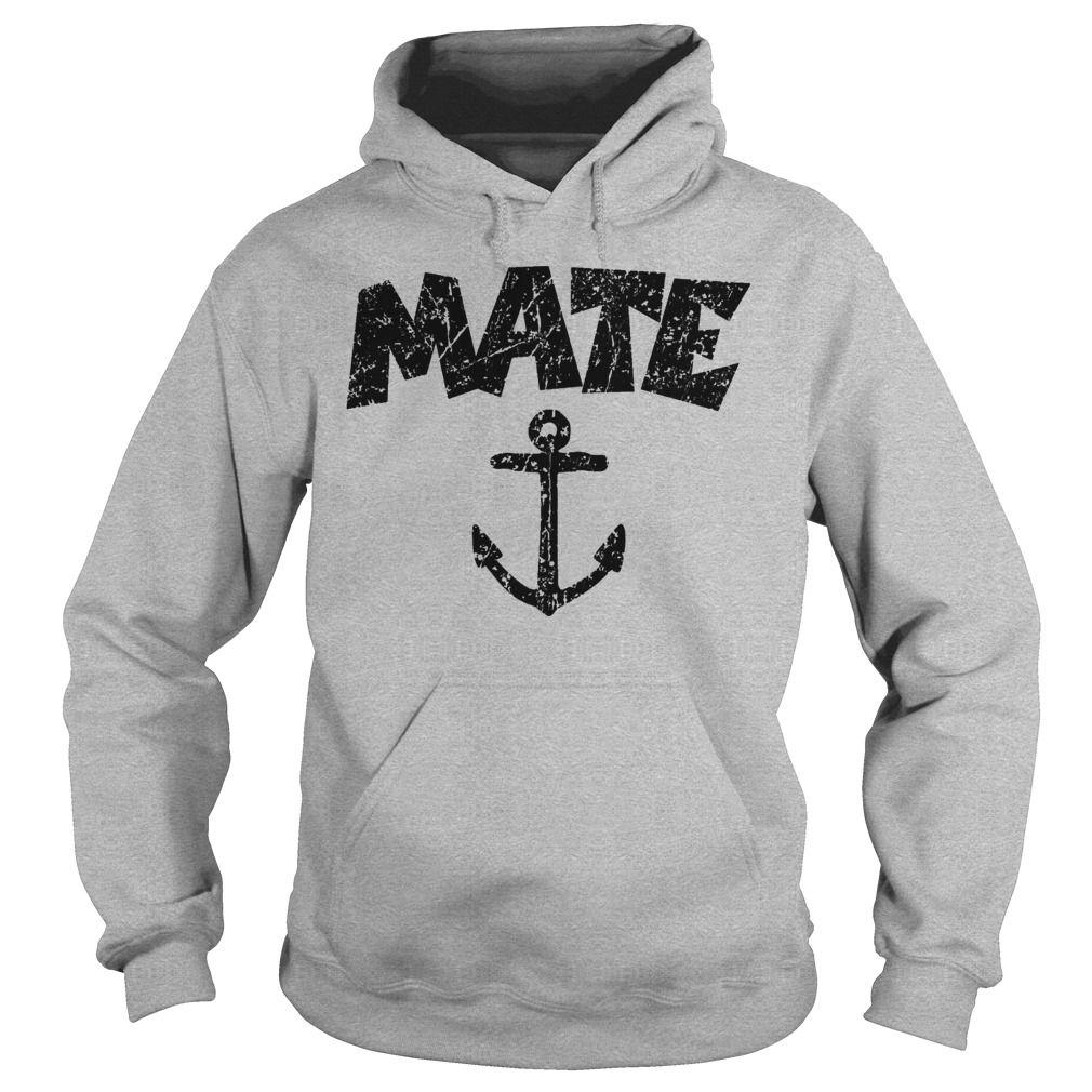 Mate Anchor Sailing Design (Distressed Black) Hoodie #gift #ideas #Popular #