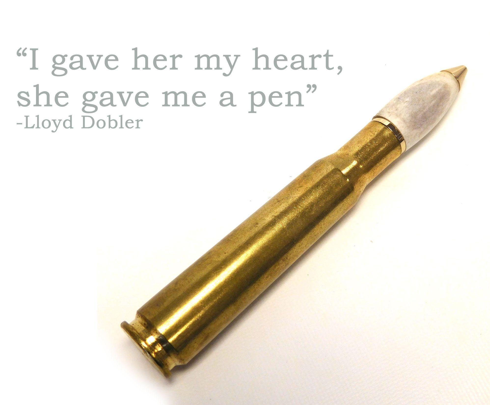 50 caliber bullet shell Pen with hand turned moose bone. For that feller. #MinkaHome