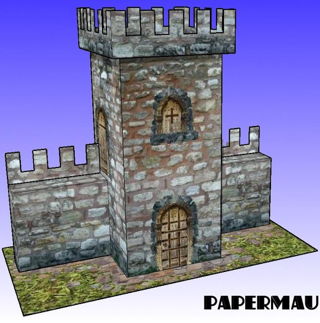PAPERMAU: A Simple Medieval Tower Paper Model For Dioramas