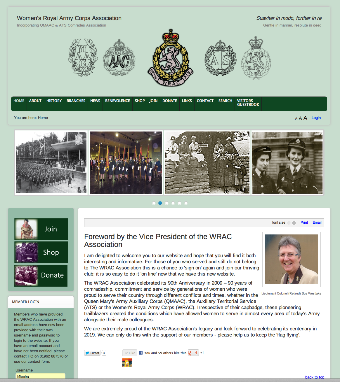 Website For The Membership Club