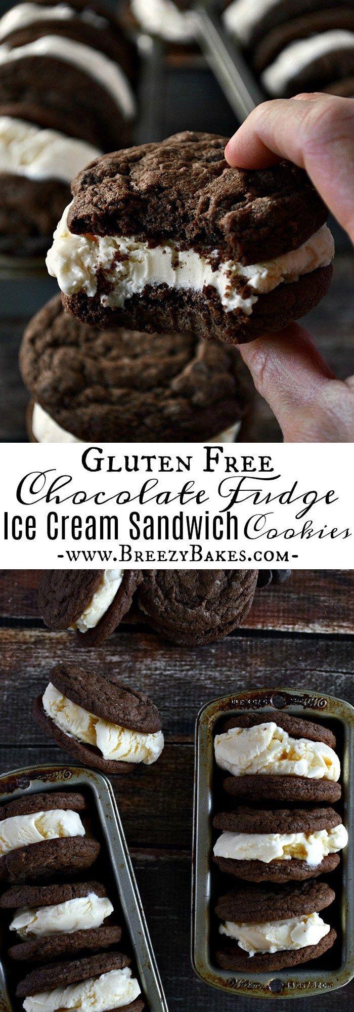 Gluten Free Ice Cream Sandwich Cookies - Breezy Bakes #icecreamsandwich