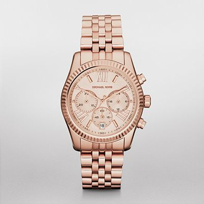 ba58fa50fd56 WATCHSTATION® Shop by Brand Michael Kors Womens Lexington Rose Gold Tone Chronograph  Watch MK5569