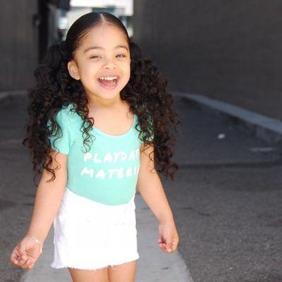 little girl curly hair  curly hair  pinterest  curly