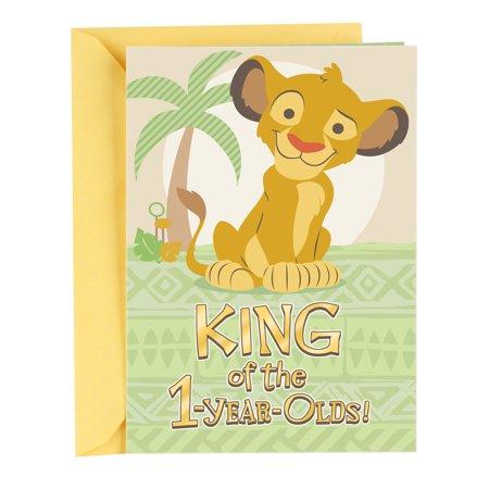 Hallmark First Birthday Greeting Card For A Boy Lion King Walmart Com In 2021 Birthday Greeting Cards Hallmark Greeting Cards Cute Birthday Cards