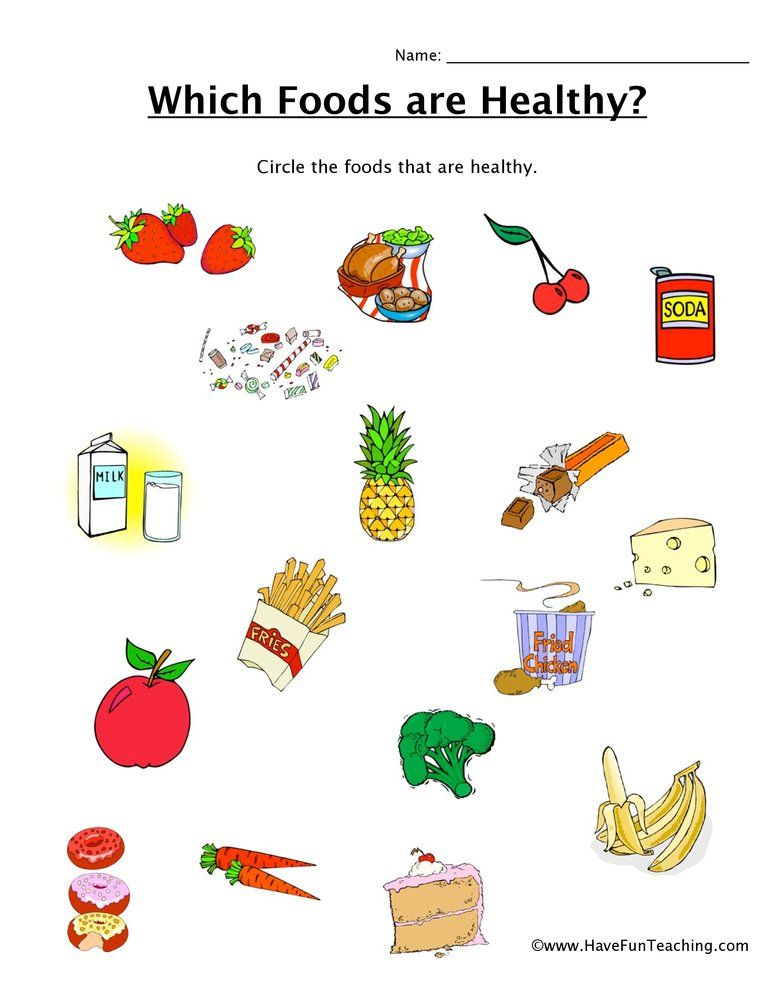 Which Foods Are Healthy Worksheet Healthy And Unhealthy Food Have Fun Teaching Healthy Food Worksheet Unhealthy food worksheet for