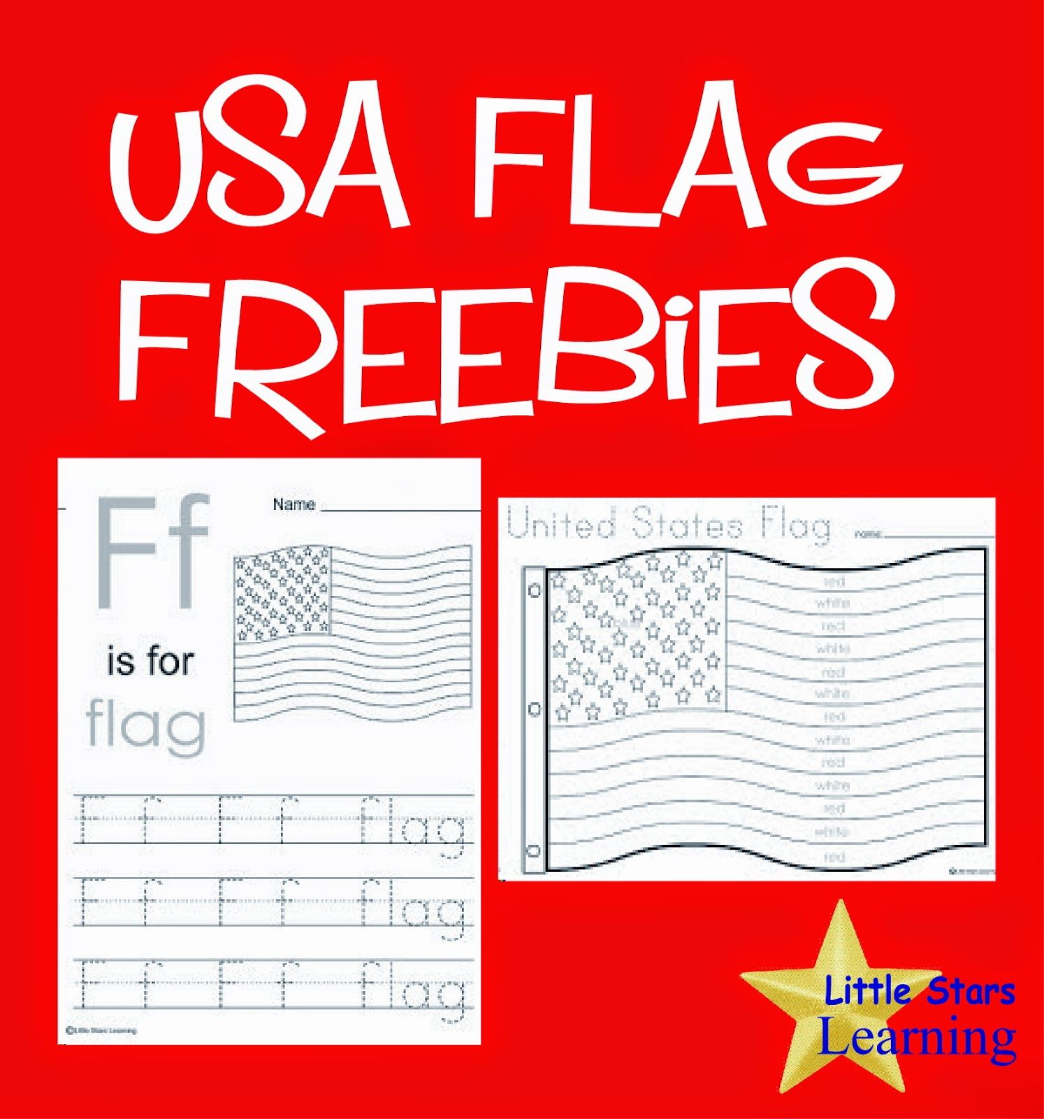 little stars learning flag day w printables fun coloring pages
