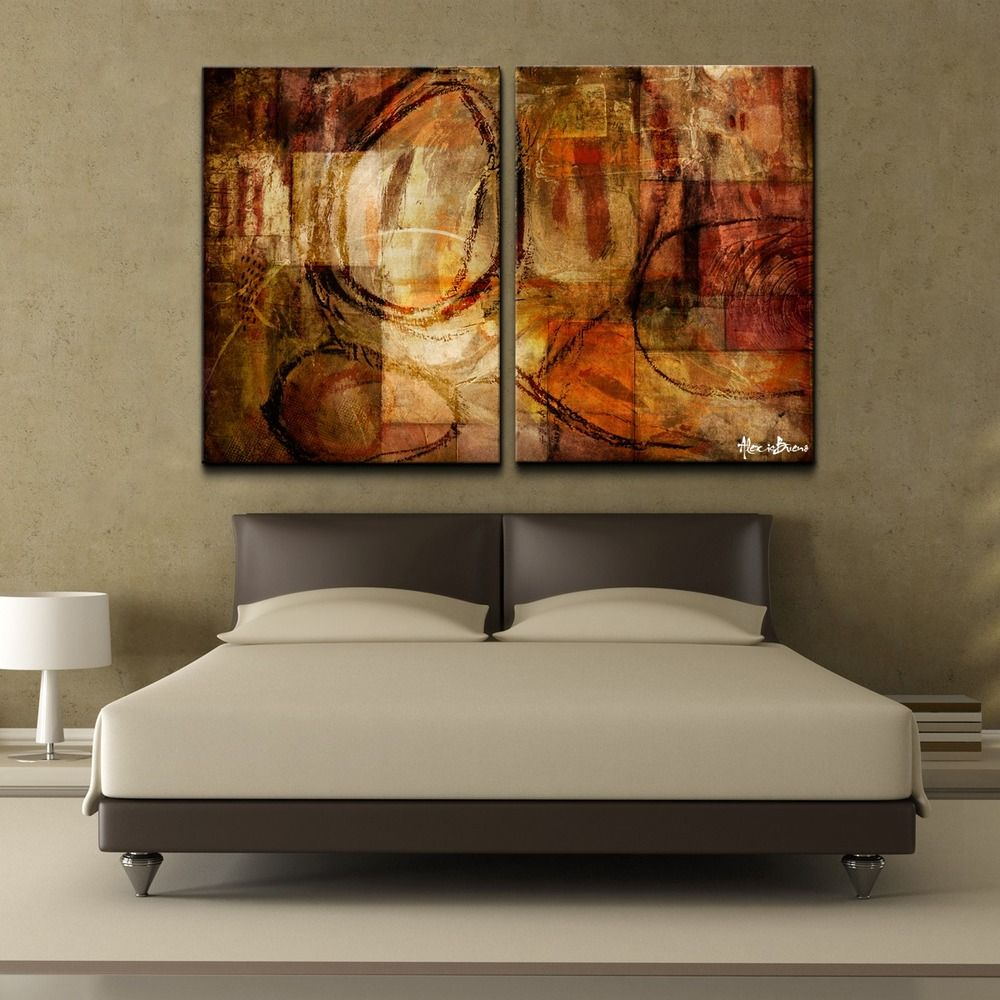 Overstock Wall Art bueno 'abstract' oversized canvas wall art (set of 2) | overstock