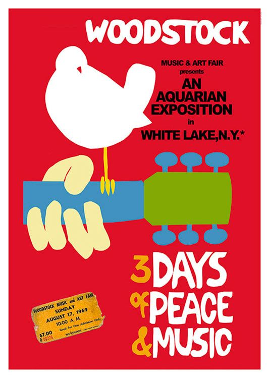 Woodstock Poster Available At 45x32cm This Poster Is Printed On