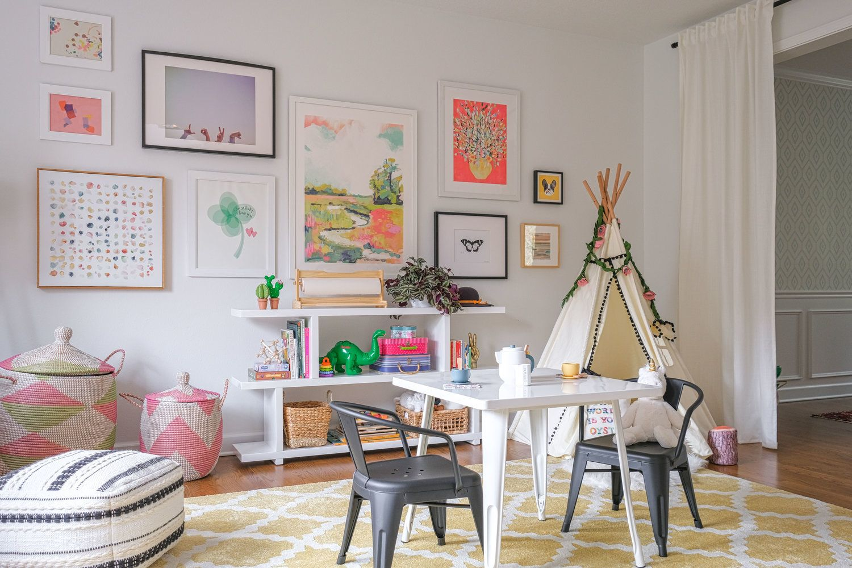 Modern Eclectic Playroom Harper Rae Design Co Playroom Room