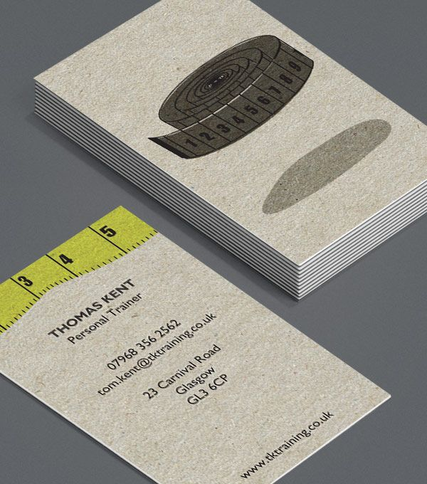 Off To The Gym Business Cards For Personal Trainers Fitness