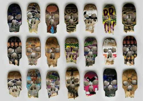 Wall Art Made From Old Skateboards Skateboard Art Skateboard Design Skate Decks