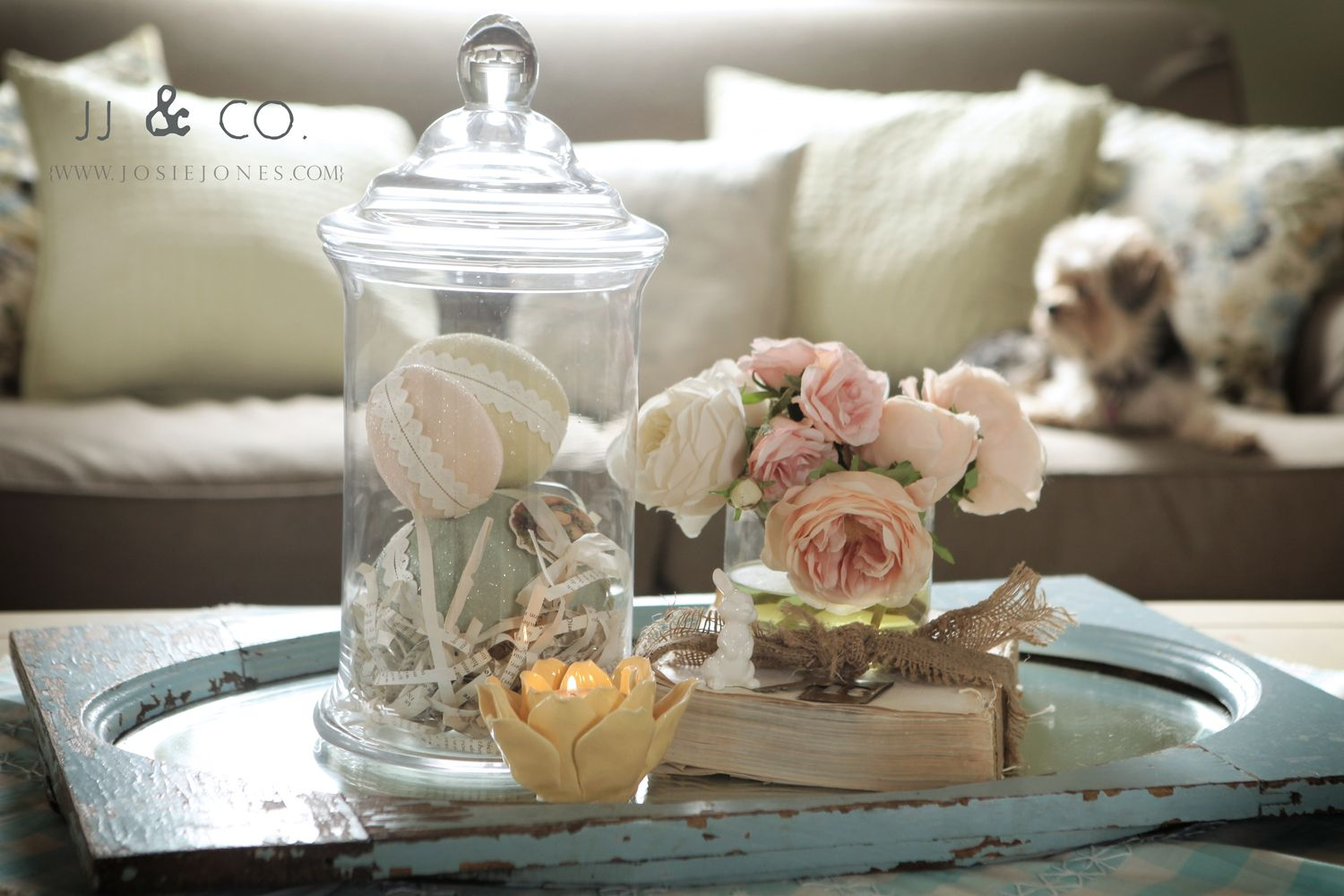 Easter Coffee Table Decoration Decorations Awesome Centerpiece Feats Pink Roses Bouquet And Eggs