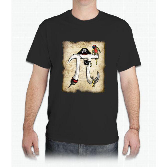 Pirate Pi Day Pi Rate Swashbuckling Pi Symbol Mens T Shirt