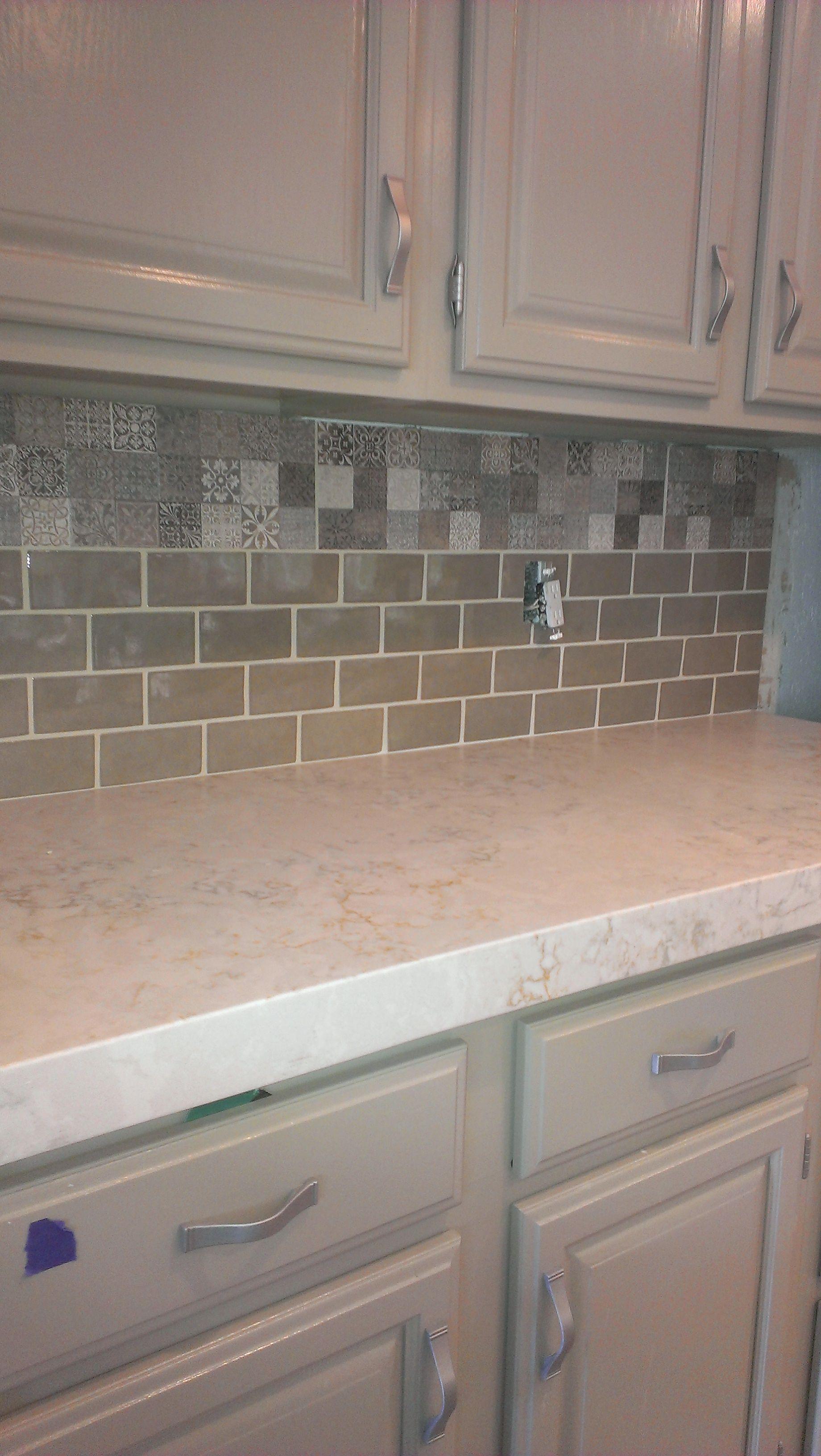 Khaki 4x12 large Glass Subway tile backsplash. Brown-glass-brick ...