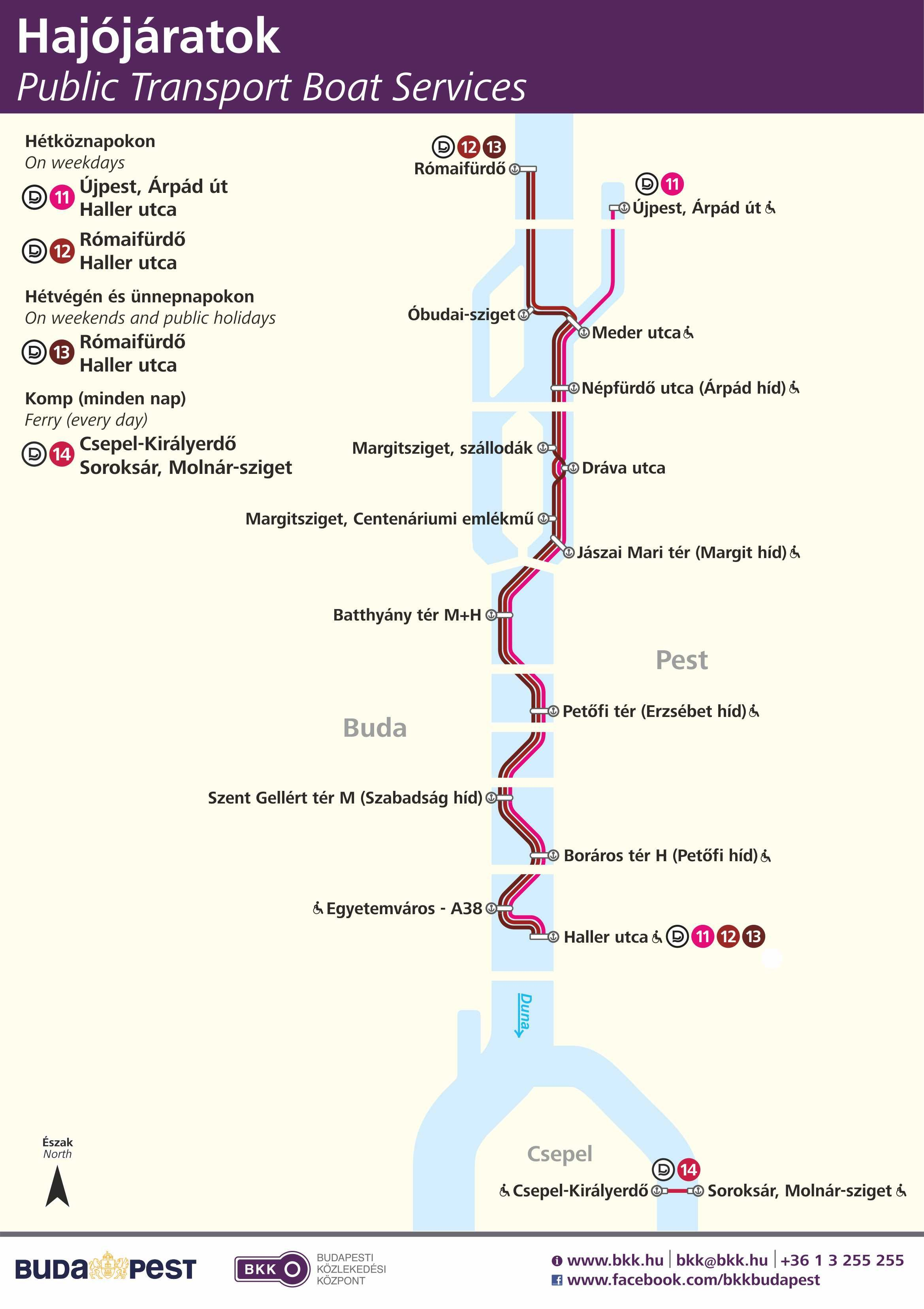 Budapest City Boat Routes Enlarges Http Www Bkk Hu Wp Content