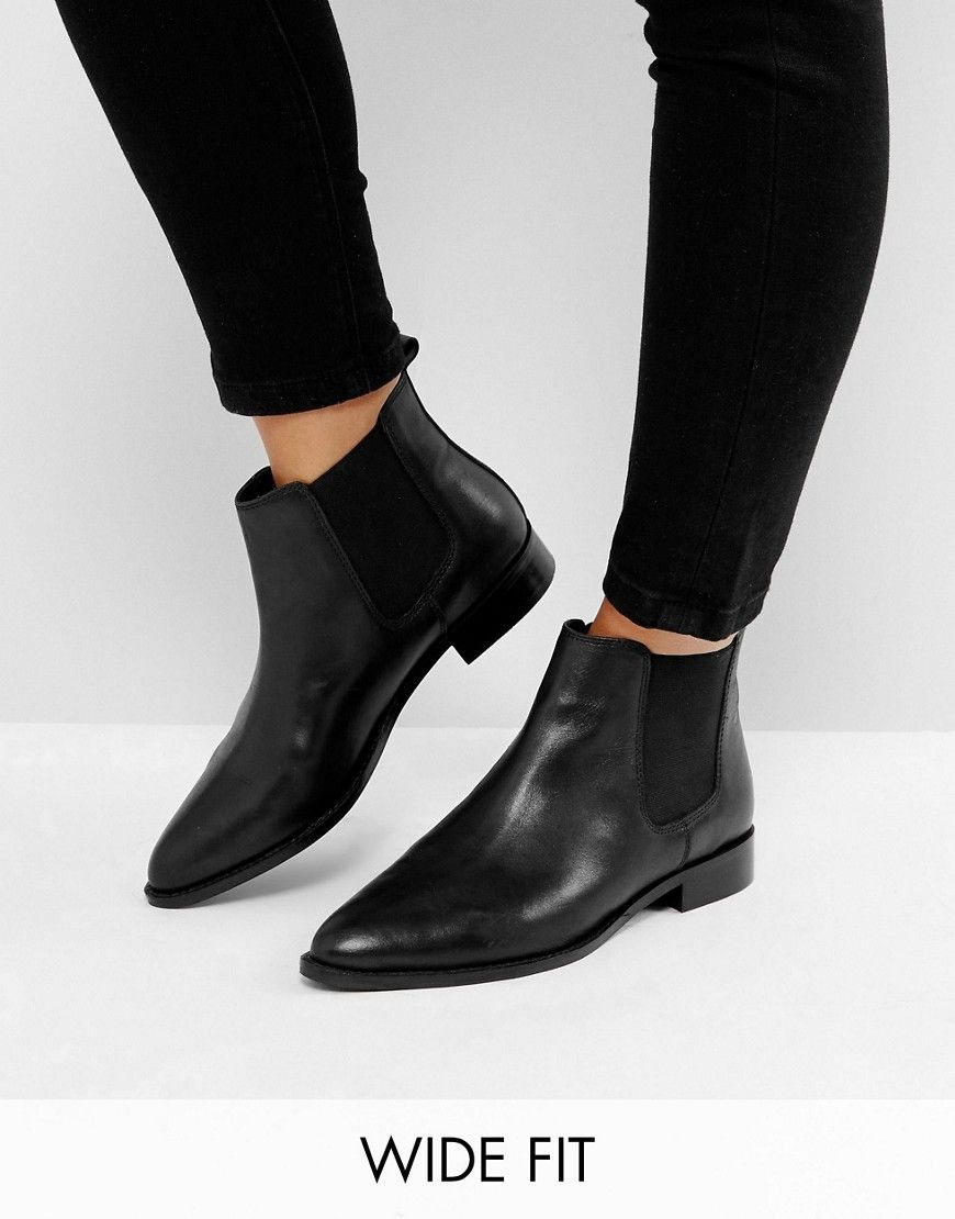 AUTOMATIC Wide Fit Leather Chelsea Boots - Black leather Asos Outlet Best Sale Free Shipping Low Shipping Sale How Much Cheap Sale The Cheapest IETCB