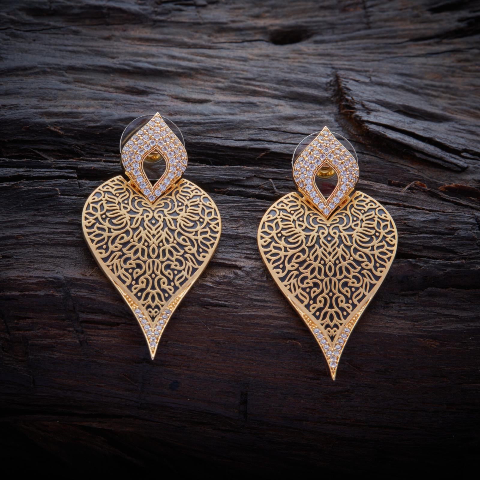 Fashionable Design CZ Zircon Stud earrings studded with synthetic ...