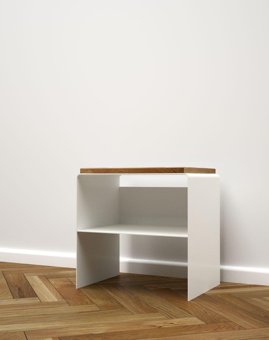 Nachttisch Weiß Eiche Metall Holz Modern Schwarz The Classic | Stahlzart®  Designmöbel Für Ihr Zuhause