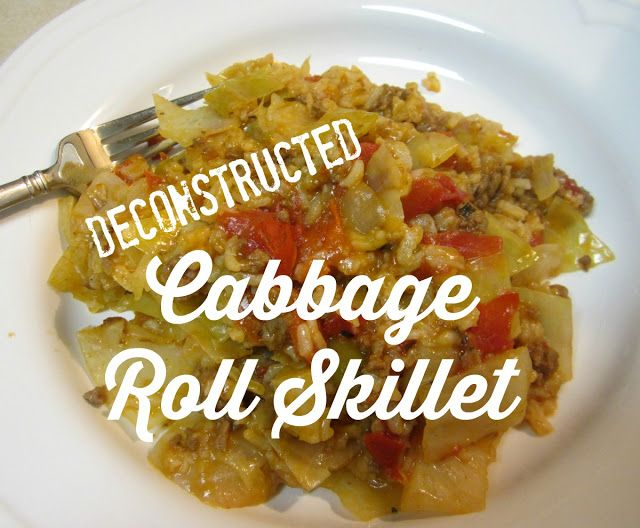 Reviews, Chews & How-Tos: Deconstructed Cabbage Roll Skillet