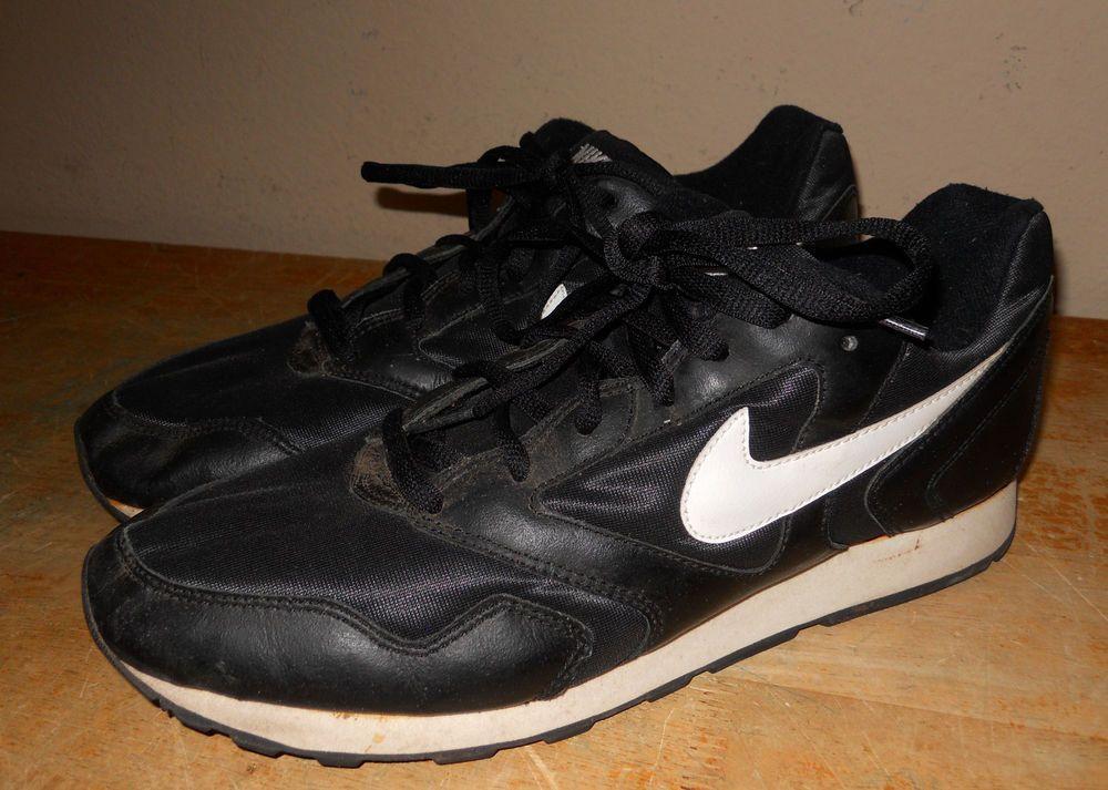 low priced 11f11 bf6b6 RARE Nike Decade Black White Heaven s Gate sz 13 sneakers shoes nylon  leather…