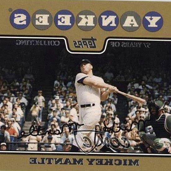 2008 Topps Gold Border 7 Mickey Mantle New York Yankees Baseball Card 2009 Topps Chrome Gold Refract New York Yankees Baseball Yankees Baseball Baseball Cards