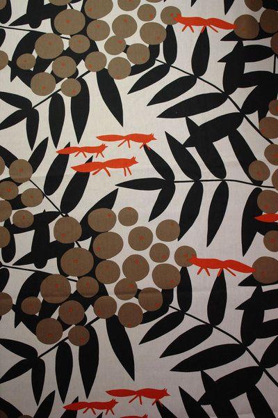 Skandinavische stoffe  Baumwolle Canvas - Fuchs Stoff | Fuchs Stoff, Skandinavische ...