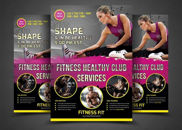 Fitness Flyer Gym Flyer Templates Flyer Template Template And
