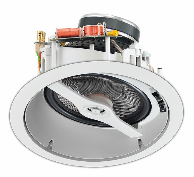 8 Angled Lcr In Ceiling Speaker W Carbon Fiber Woofer Dolby Atmos Ready Single Ice870 Dolby Atmos Ceiling Speakers Sound Bar