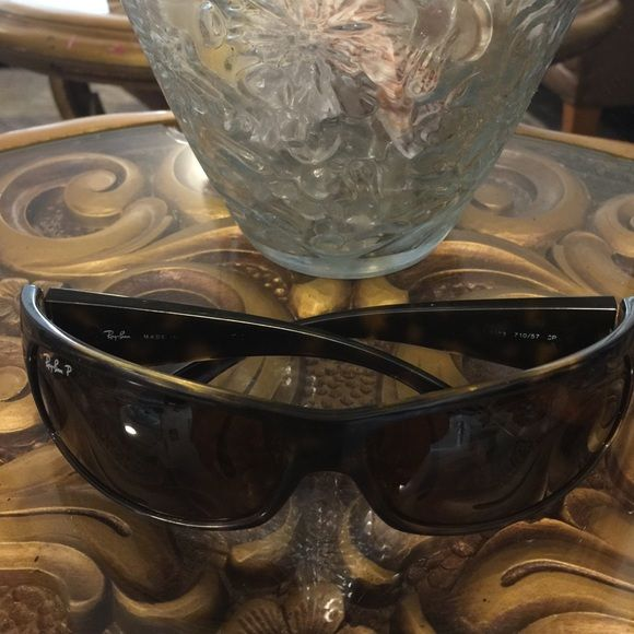 Authentic Ray ban sun glasses It's has a little scratch I took a pic Ray-Ban Accessories Sunglasses