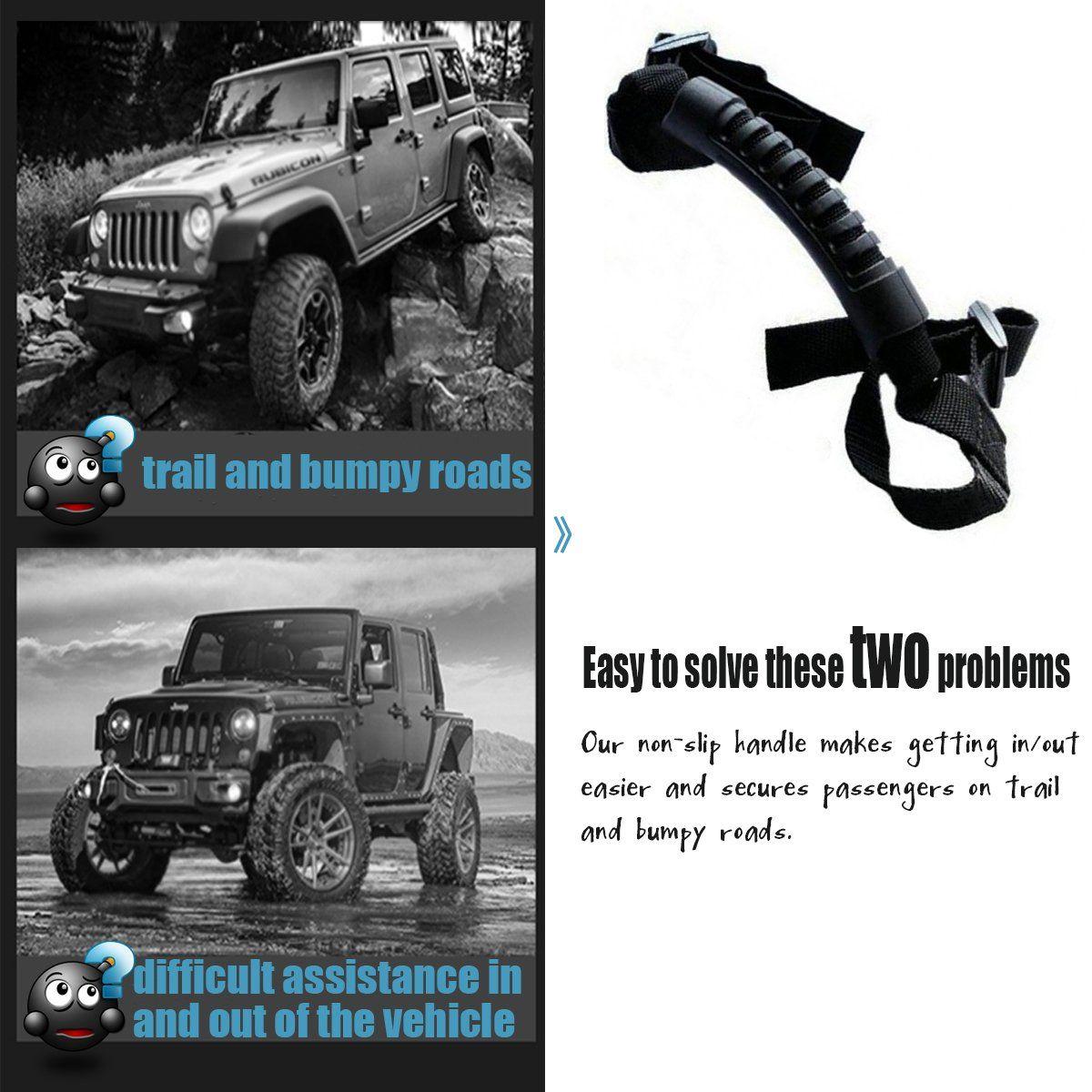 Moveland 4 X Grip Handle Jeep Wrangler Handles Roll Bar Grab
