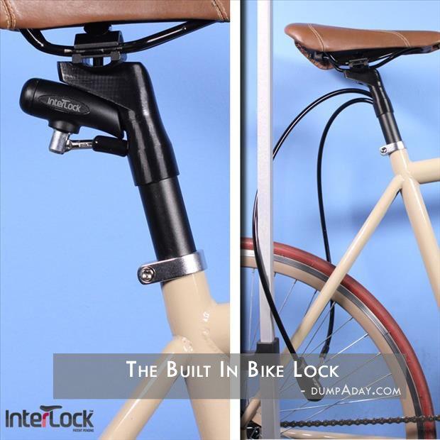 Simple Ideas That Are Borderline Genius Built In Bike Lock One