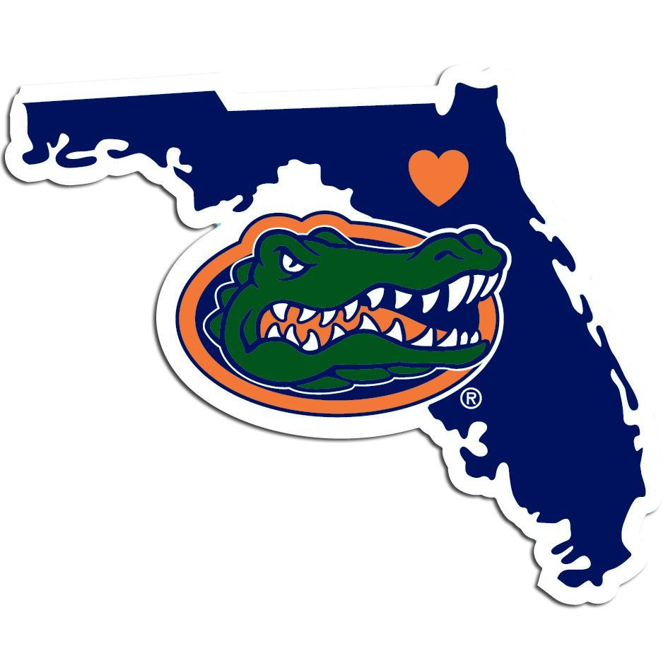Florida Gator Stickers : Ncaa florida gators home state decal college football