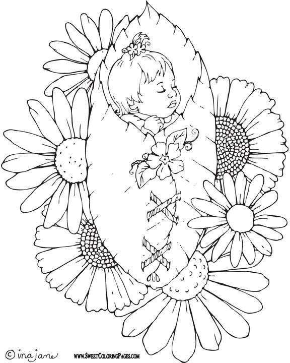 Pin By Deborah Browning On Color Pages Coloring Pages Fairy Coloring Baby Coloring Pages