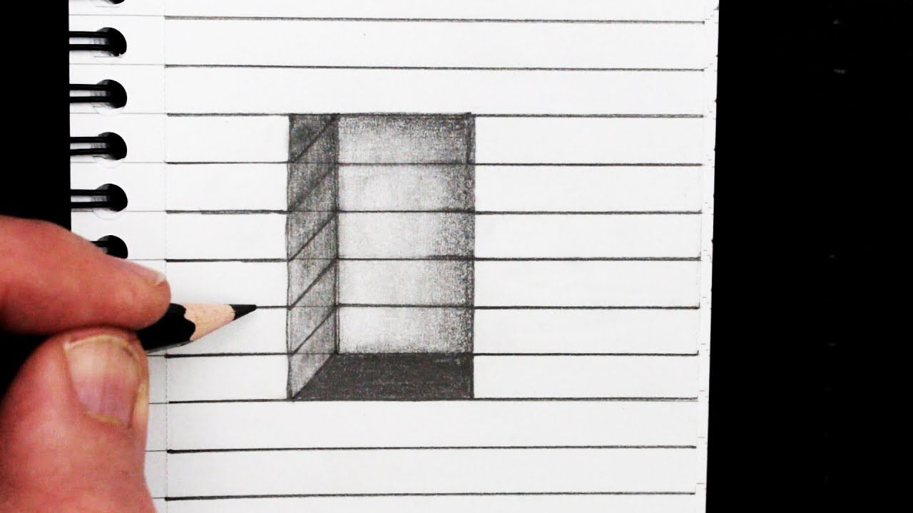 Comment dessiner un trou 3D en ligne: Easy Trick Art | art, a way of ...