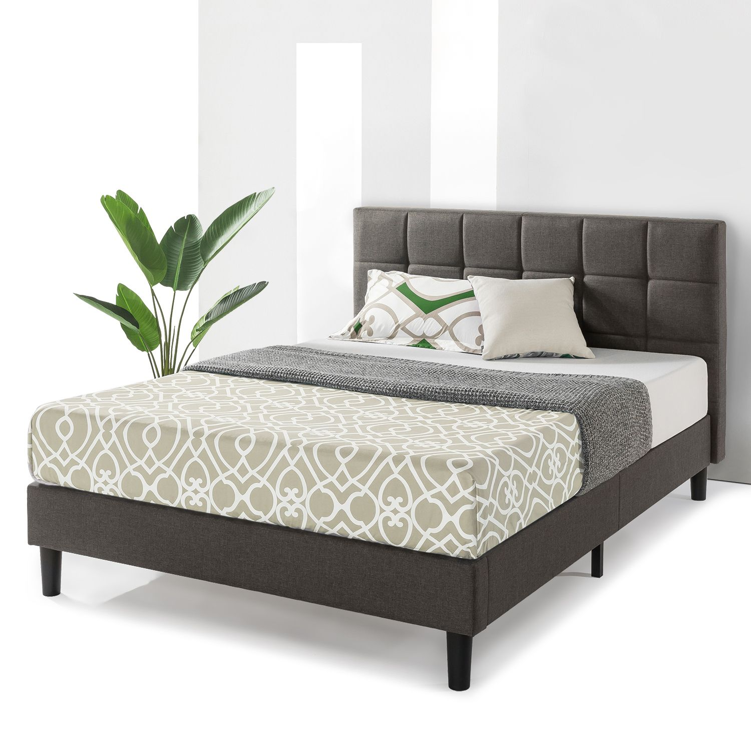 Best Price Mattress Zoe Upholstered Platform Beds With Tufted