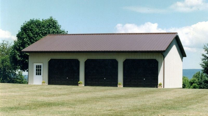 Prefab three car garage in pa 650x488 20 in category home for 20 x 40 shop plans