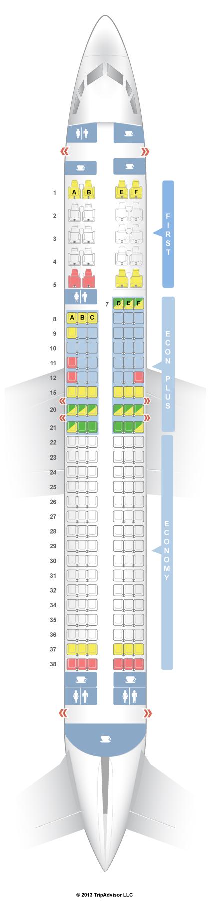 SeatGuru Seat Map United Boeing 737-900 (739) V1/V2   travel ideas on