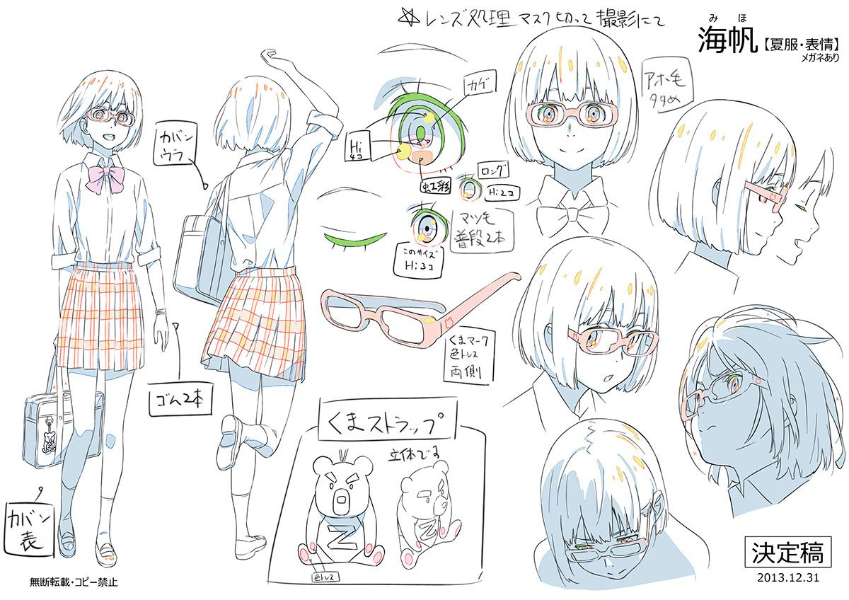 "yoshix2 "" Masayoshi Tanaka's character designs and genga"