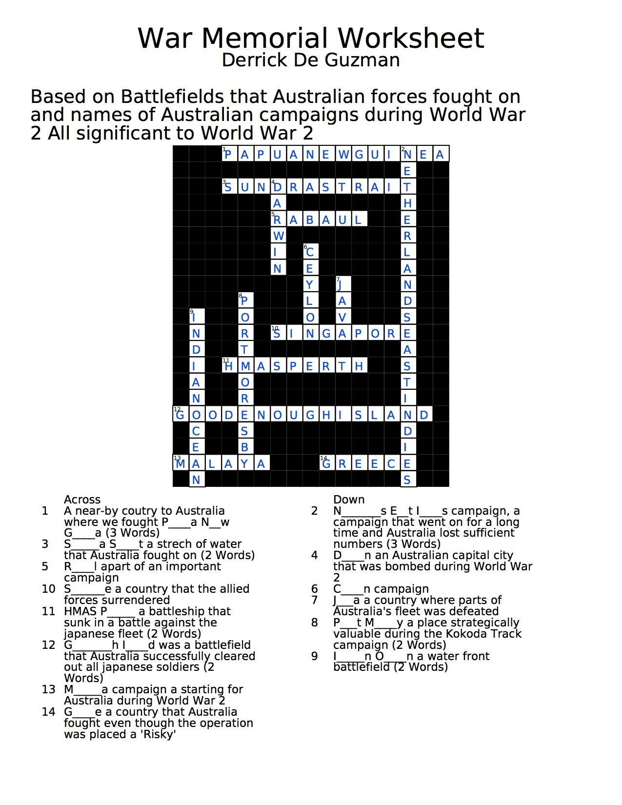 Answers War Memorial