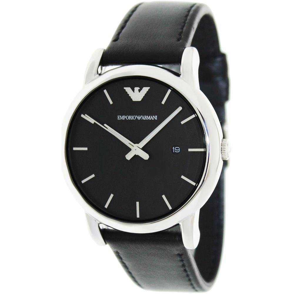 Emporio Armani Men s Classic AR1692 Black Leather Japanese Quartz Dress  Watch. Product sold by eBay 6126ece3f5